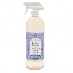 Lavender scented linen splash to spray on pillows and bedding. 32 fluid ounces