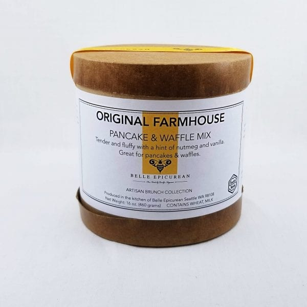 Original Farmhouse Pancake Mix is a tender and fluffy mix with hint of nutmeg and vanilla. 16 oz
