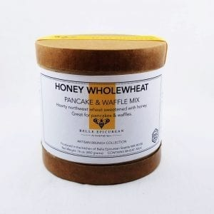 Honey Wholewheat Pancake Mix is hearty northwest wheat sweetened with honey. 16 oz