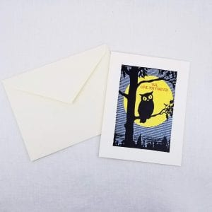 Greeting card: Owl Love You Forever on front, inside is left blank for a personal message.