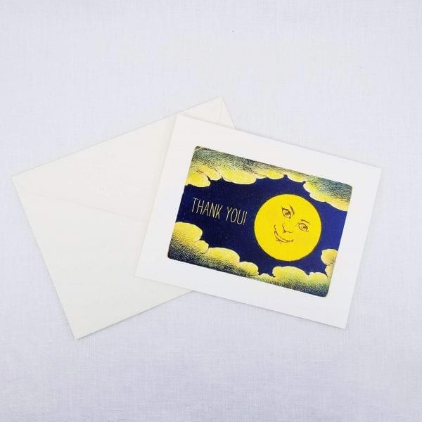 Greeting card: Thank You on front, inside is left blank for a personal message.