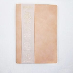 "Vegan Suede Journal has 192 lined pages using soy inks for printing. Size: 5.75"" x 8"". Color: Dusty Blush"