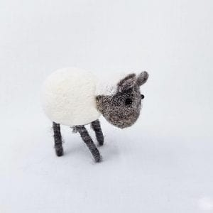 "Handmade felt sheep made by Nepalese women and certified as 100% Fair Trade. Color: White. Size: 3""H"