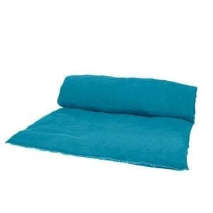 """Linen throwbed with envelope closure measures 33"""" x 79"""" Color: Twilight"""