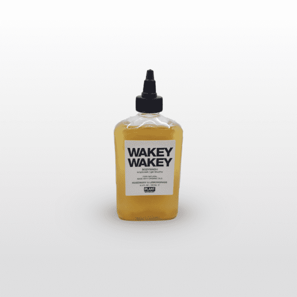 Wakey Wakey Bath Wash is an invigorating blend of rosemary and lemongrass to energize and wake you up. 9.5 oz.