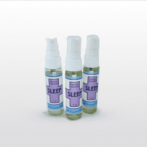 Sleep Personal Spray is a blend of lavender, lemon, and bergamot. Spray on your pillows, your sheets, or in the steam of a shower to promote better sleep. 1 oz.