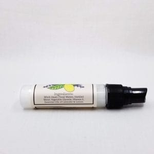 An all natural blend of Lavender and Lemon Oils to sanitize and refresh your hands without drying them out. 1 oz.