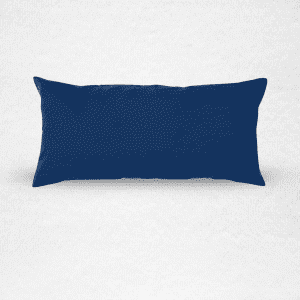 "Extra large linen bolster bed pillow, measures 22""x43"". Color: Indigo"