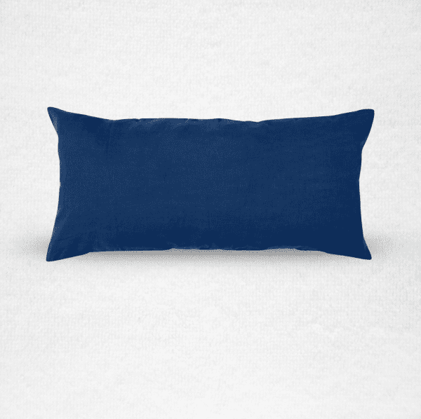 """Extra large linen bolster bed pillow, measures 22""""x43"""". Color: Indigo"""