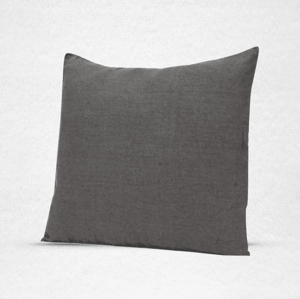 "Large linen floor pillow, measures 22""x22"". Color Granite"