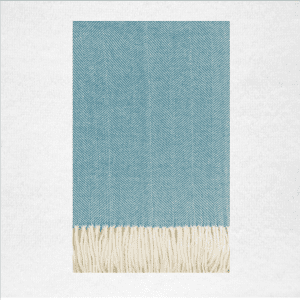 "50% Cotton/50% Acrylic herringbone woven throw measures 50""x70"". Color: Spring Lake"