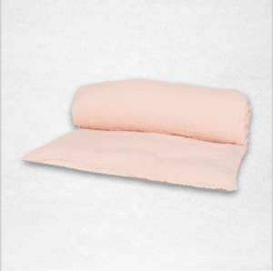 """Linen throwbed with envelope closure measures 33"""" x 79"""" Color: Nude"""