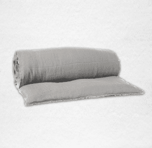 """Linen throwbed with envelope closure measures 33"""" x 79"""" Color: Granite"""