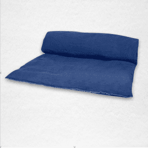 "Linen throwbed with envelope closure measures 33"" x 79"" Color: Indigo"