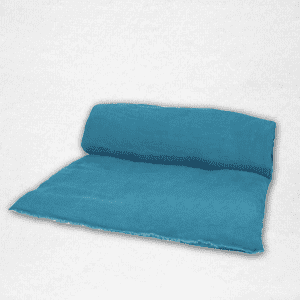 "Linen throwbed with envelope closure measures 33"" x 79"" Color: Twilight"