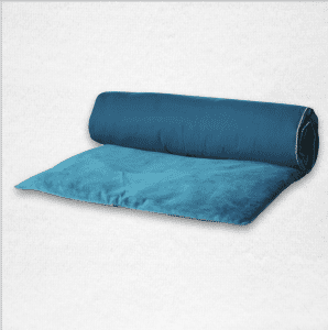 """Velvet throwbed with zipper closure measures 33""""x79"""". Color: Twilight"""