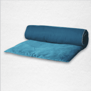 "Velvet throwbed with zipper closure measures 33""x79"". Color: Twilight"