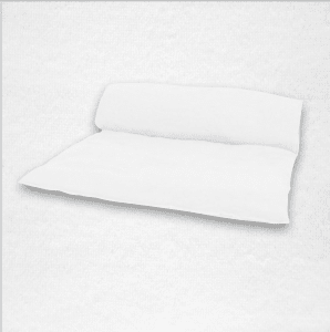 """Linen throwbed with envelope closure measures 33"""" x 79"""" Color: White"""