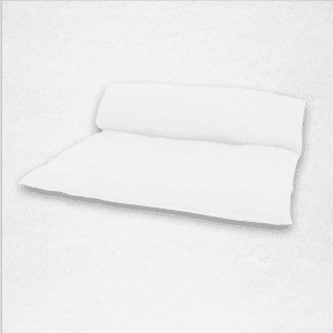 "Linen throwbed with envelope closure measures 33"" x 79"" Color: White"
