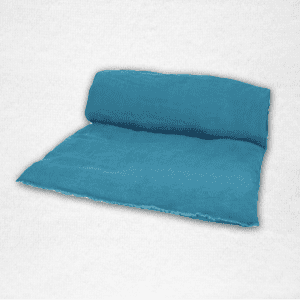 "Linen throwbed with envelope closure measures 33"" x 79"" Color: Peacock"