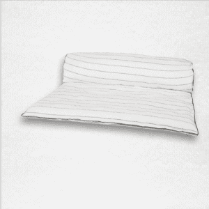 "Linen throwbed with envelope closure measures 33"" x 79"" Color: White with stripes"