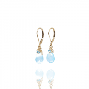Chalcedony and Topaz Earrings