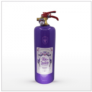 Fire Extinguisher scented with lavender.